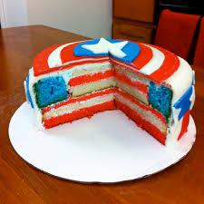 captain america cake i love making nerdy nummies u003c3 yummyyy