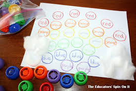 learning to read color words with the rainbow the educators