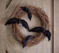 twig bat wreath pottery barn