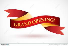 grand opening ribbon grand opening waving ribbon banner illustration 31864595
