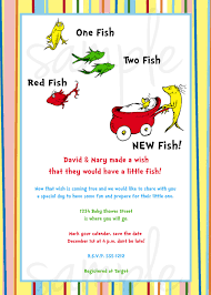 dr seuss one fish two fish baby shower invitation showers in