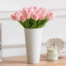 aliexpress com buy 10pcs pu tulip artificial flowers for wedding