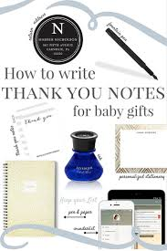 how to write thank you notes for baby gifts