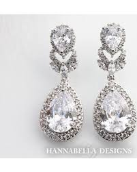 wedding earrings drop get the deal marisole cubic zirconia wedding earrings swarovski