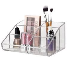 amazon com premium quality clear plastic cosmetic storage and