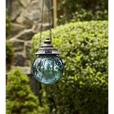 Garden Gazing Globe Garden Oasis 8in Solar Hanging Gazing Ball Blue Shop Your Way