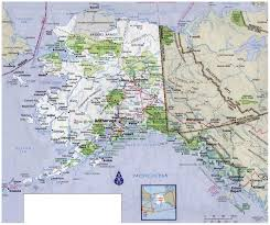 United States Map With Alaska by Large Detailed Road Map Of Alaska With All Cities And National