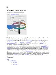 munsell color system psychophysics vision