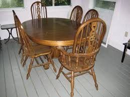 barely used oak dining room table chairs and hutch best offer and inside breakfast room tables and chairs jpg