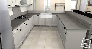 plan de travail cuisine effet beton plan de travail en bton cir cuisine trendy plan travail beton