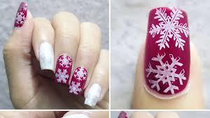 winter snowflakes nail art w peel youtube
