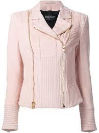 cheap biker jackets balmain dress kylie jenner rose pink lambskin and cotton ribbed
