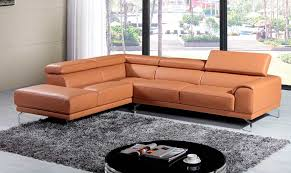 Bay Area Modern Furniture by Modern Top Grain Camel Leather Sofa Vg214 Leather Sectionals