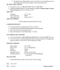 professional fresher resume gallery of fresher resume format it professional sle resume