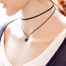 velvet collar necklace images Women jewelry black star pendant velvet collar chokers necklace jpg
