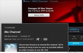Seeking Directv Viacom Channels Blacked Out For Directv Customers Jul 11 2012