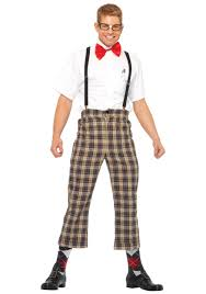 Men Halloween Costume Mens Nerdy Geek Costume Funny Male Halloween Costumes Male