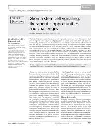 signal ique bureau glioma stem cell signaling therapeutic pdf available