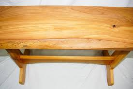 Sofa Table Oak by Live Edge Oak Sofa Table Wood Monkey Studio