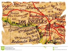 Los Angeles Maps by Los Angeles Old Map Stock Photos Image 15658033