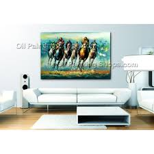 hand painted oil painting on canvas abstract horse racing wall art large size wall art