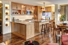 Kitchen With Light Oak Cabinets Kitchen Floor Tile Ideas With Oak Cabinets Small 9 On Kitchen
