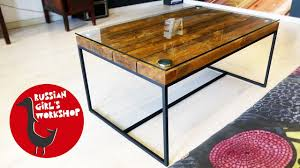 how to build a simple coffee table youtube