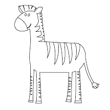 colorful animal zebra black white line art coloring book colouring