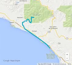 San Simeon Map The Heart Of Costa Rica Autentico Adventures