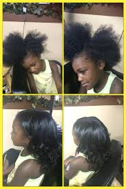 natural hair style kids blow out at natural strands salon located