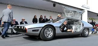 lamborghini classic lamborghini concours a tribute to le corbusier the classic car