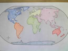 The World Map With Continents And Oceans by Bt Wilson Bobcat Social Studies Continents U0026 Oceans Foldable