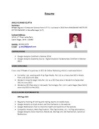 Online Marketing Resume by Resume Anuj Kumar Gupta Online Marketing