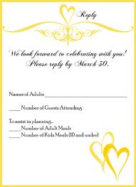 Samples Of Wedding Invitation Card Wedding Invitation Reply Card Wording Wedding Response Card