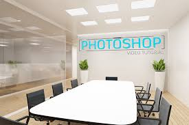 amazing meeting room logo mockup