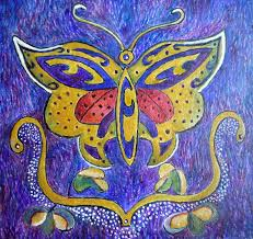 celtic butterfly totem painting by catherine meyers