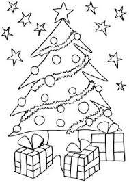 christmas tree coloring pages kids printable printables