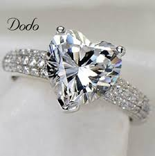 girl heart rings images Heart shape white gold plated jewelry ring antique cz diamond jpg