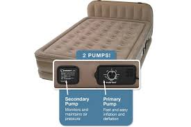 insta bed raised air mattress with never flat pump reviews top