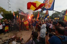 Flag Burning Protest Help Catalonia On Twitter