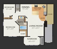 sunroom floor plans new luxury 55 rental apartments plaza at strafford station floor
