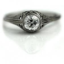antique diamond ring 70ctw bezel set old european cut diamond art