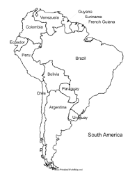 outline of south america map south america free maps blank outline endearing enchanting map