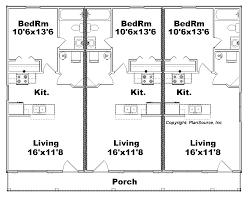 Multi Family House Plans Triplex One Story One Bed One Bath Triplex J1103 11t Ad Copy Jpg 165472