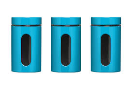 premier housewares storage canisters blue set of 3 amazon co