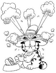 garfield coloring pages coloring pages pinterest free