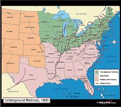 map us railroads 1860 underground railroad map 1860 by maps from maps world s