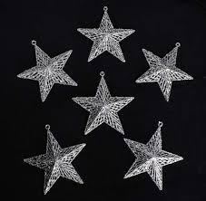 silver glitter ornaments ornaments