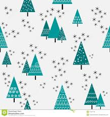 seamless christmas tree pattern in flat style vector stock