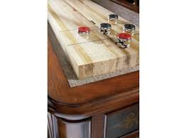 ambella home bar and game room elegant scroll shuffleboard table
